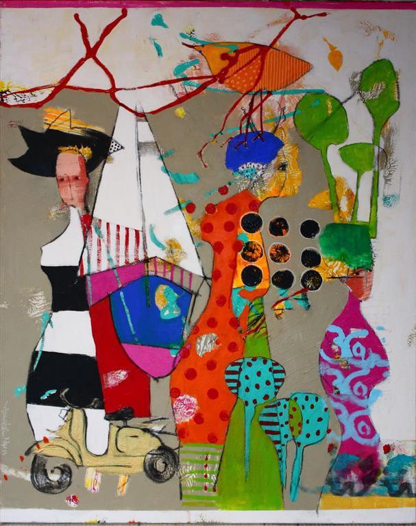 Andres oensker Akrylmaleri 100x80 cm 9000 ur