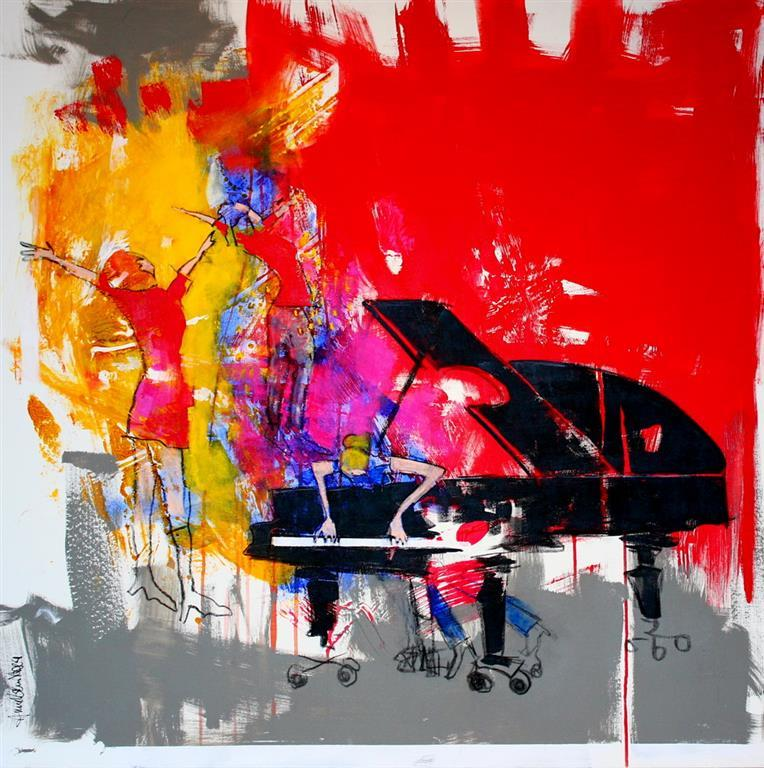 Art and Joy Akrylmaleri 100x100 cm 10500 ur