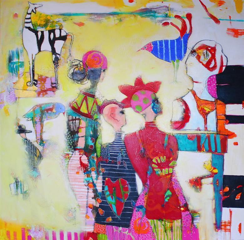 Det er tiden Akrylmaleri 100x100 cm 10500 ur