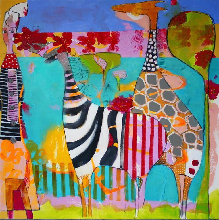 En ny fabel Akrylmaleri 100x100 cm 10500 ur