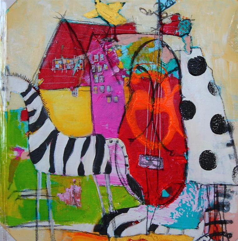 Hennes eneste ønske Akrylmaleri 40x40 cm 4000 ur