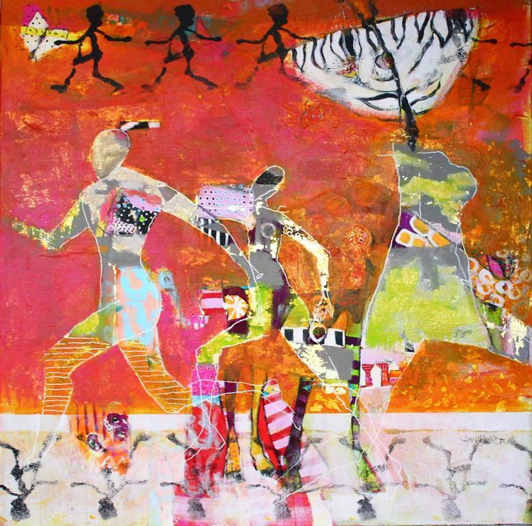 Tiden kommer ikke tilbake Akrylmaleri 100x100 cm 10500 ur