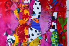 Aa se og bli sett Akrylmaleri 80x80 cm 8500 ur