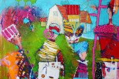 Der jeg kommer fra Akrylmaleri 80x80 cm 8500 ur