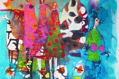 Passe mye mystisk Akrylmaleri 100x100 cm 10500 ur