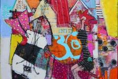 Sommerfuglsang Akrylmaleri 40x40 cm 4000 ur