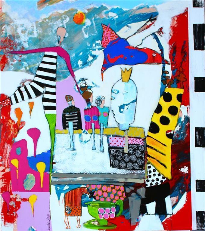 Anyone is Table Akrylmaleri (90x80 cm) kr 9000 ur