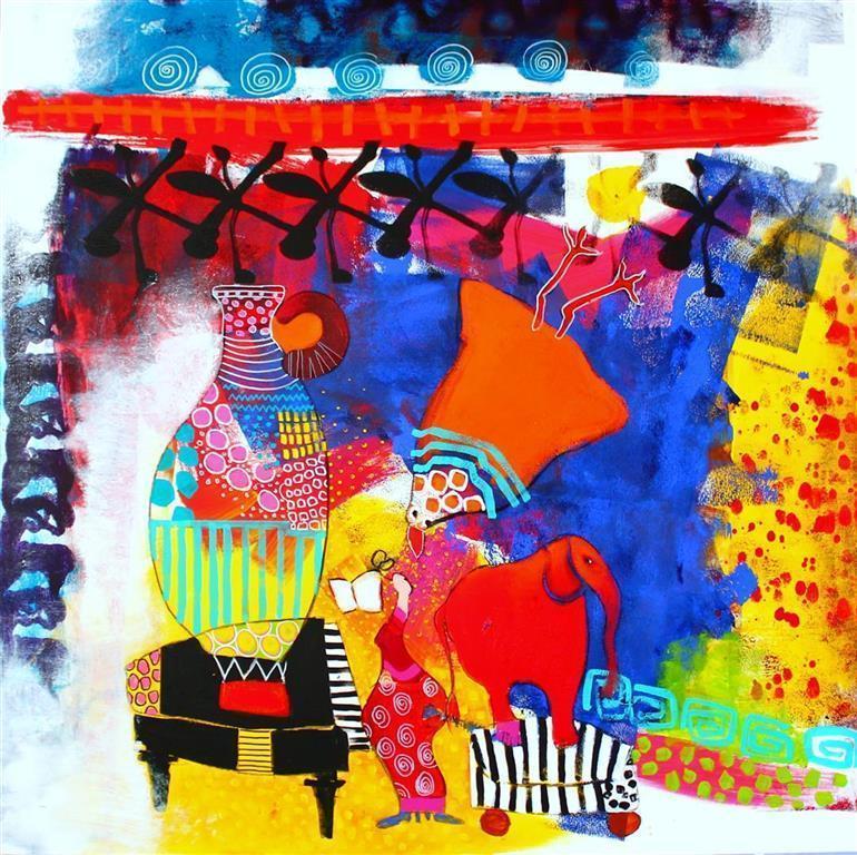 The Sound of Art Akrylmaleri (100x100 cm) kr 11000 ur