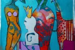 A forsta sin egen drom Akrylmaleri (70x50 cm) kr 6500 mr