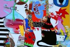 Det er bare tiden Akrylmaleri (90x80 cm) kr 9000 ut