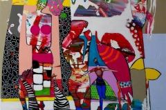 Life or Performance Akrylmaleri (100x100 cm) kr 11000 ur