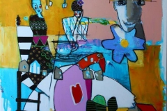 Livet er alltid annerledes Akrylmaleri (100x80 cm) 9500 ur