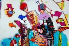 Narrens venn Akrylmaleri (100x100 cm) kr 11000 ur