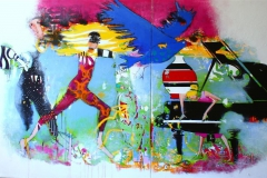 The Art of new Joy Akrylmaleri (100x180 cm) 16000 ur