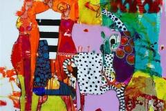 Vita Multo Akrylmaleri (100x100 cm) kr 11000 ur