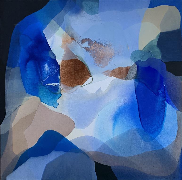 Farger og flyt IV Akrylmaleri (70x70 cm) kr 7000 ur