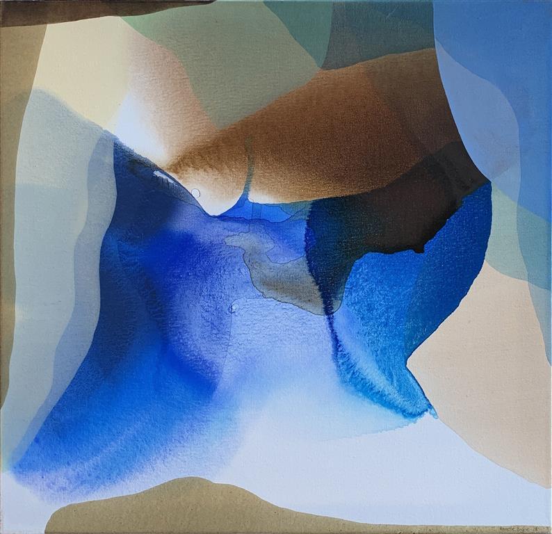 Farger og flyt VI Akrylmaleri (60x60 cm) kr 6000 ur