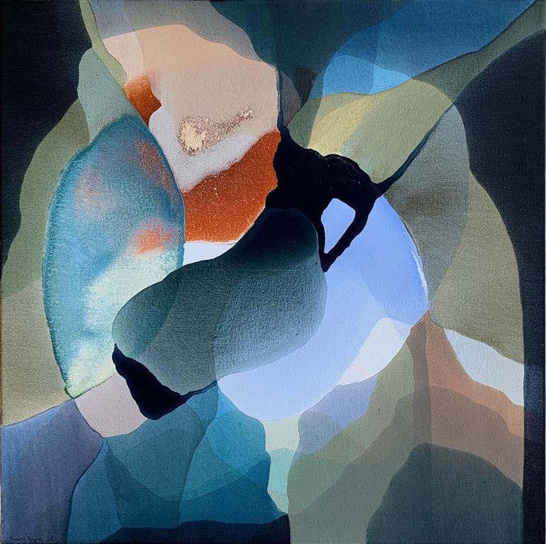 Farger og flyt VIII Akrylmaleri (60x60 cm) kr 6000 ur