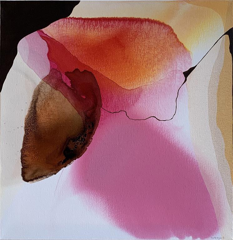 Farger og flyt X Akrylmaleri (50x50 cm) kr 5000 ur