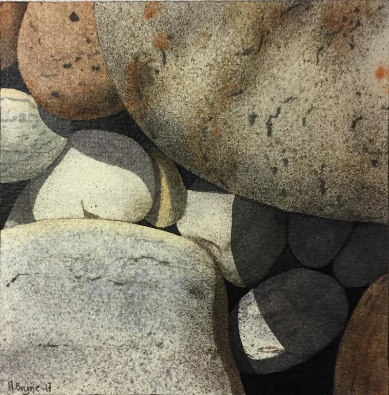 Steinstudie V Akvarell (15x15 cm) kr 1000 ur
