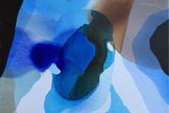 Farger og flyt II Akrylmaleri (80x80 cm) kr 8000 ur