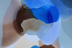 Farger og flyt III Akrylmaleri (80x80 cm) kr 8000 ur
