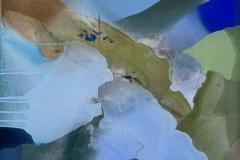 Farger og flyt V Akrylmaleri (70x70 cm) kr 7000 ur