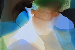 Farger og flyt VII Akrylmaleri (60x60 cm) kr 6000 ur