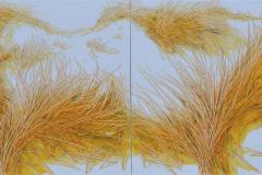 Sunny Gardens XI Oljemaleri (90x240 cm) kr 29500 ur