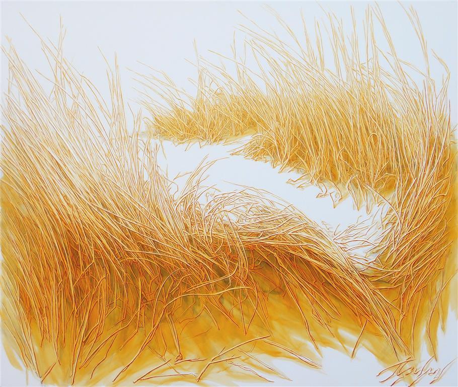 Sunny Gardens II Oljemaleri (110x130 cm) kr 16500 ur