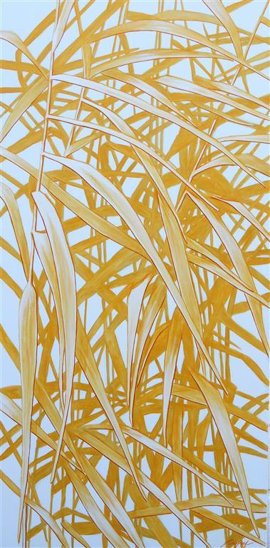 Sunny Gardens Oljemaleri IV (100x50 cm) kr 8000 ur