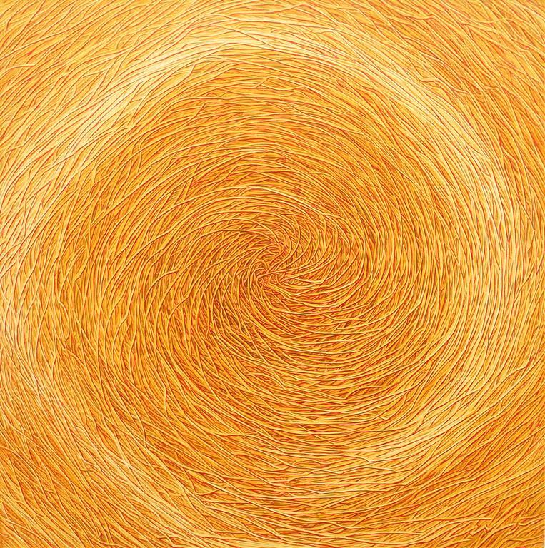 Sunny Labyrinth II Oljemaleri (95x95 cm) kr 12500 ur