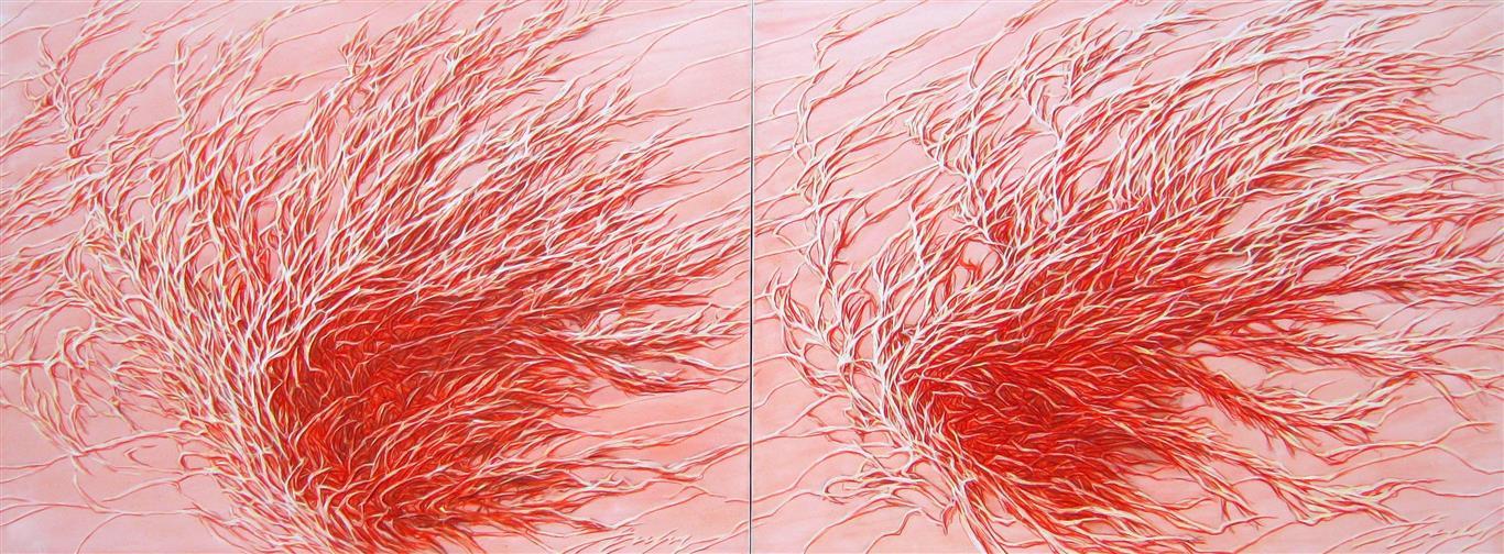 Wind from Mesopotamia Oljemaleri (90x240 cm) kr 28000 ur