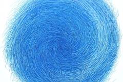 Blue labyrinth Oljemaleri (95x95 cm) kr 12500 ur