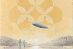 Arrival Akrylmaleri (30x30 cm) kr 4000 ur