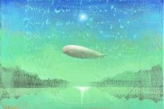 Green dawn Akrylmaleri (30x30 cm) kr 4000 ur