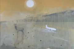 Icy road Akrylmaleri (100x100 cm) kr 19000 ur