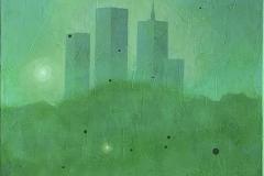 Misty morning Akrylmaleri (70x50 cm) kr 9000 ur