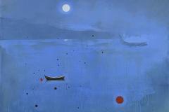 The red buoy Akrylmaleri (100x100 cm) kr 19000 ur