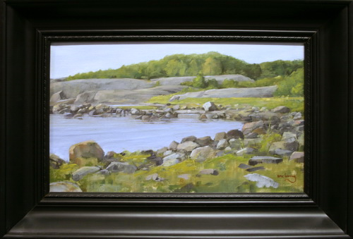 Bukten, Roevik Oljemaleri 30x50cm 12000,-kr m.r.