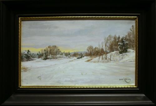 Vinter, Garden Oljemaleri 30x50cm 11000,-kr m.r.