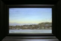 Kveldssamling Oljemaleri 30x50cm 11000,-kr m.r.