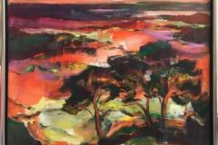 Kveld Akrylmaleri (90x90 cm) kr 14000 mr