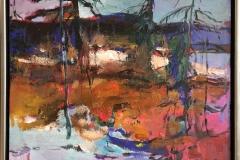 Senhøst Akrylmaleri (65x81 cm) kr 9000 mr