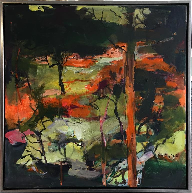 Arne Kleng Dahle: Innover myrene Akrylmaleri (80x80 cm) kr 12000 mr
