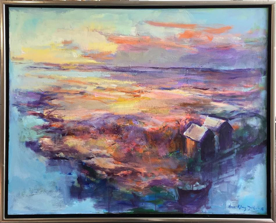 Arne Kleng Dahle: Morgenen Akrylmaleri (80x100 cm) kr 14500 mr