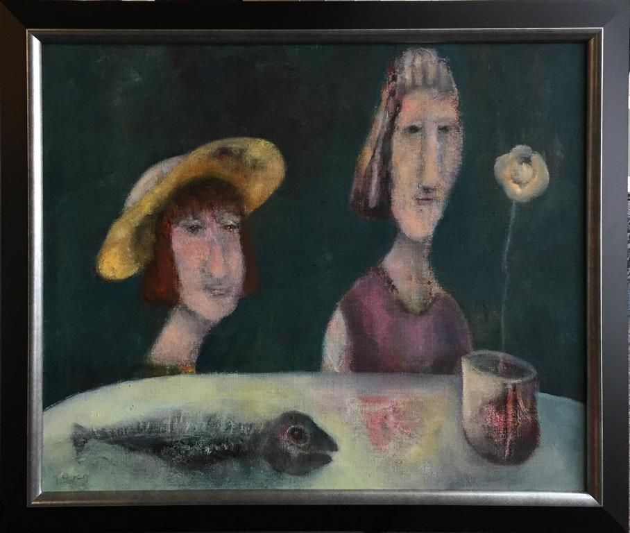 Trine Støren: De sier hodet er best Akrylmaleri (60x73 cm) kr 9000 mr