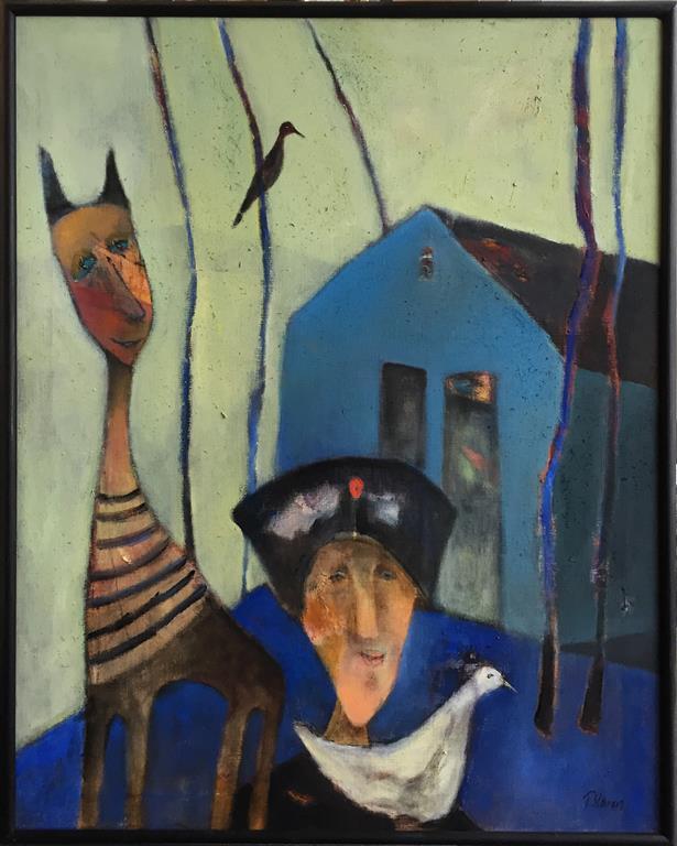Trine Støren: Domestisert Akrylmaleri (100x80 cm) kr 15000 mr
