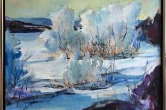 Arne Kleng Dahle: Etter snøfall Akrylmaleri (80x100 cm) kr 14500 mr