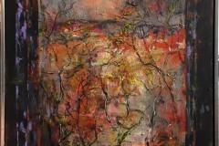 Arne Kleng Dahle: Høstvindu Akrylmaleri (100x80 cm) kr 14500 mr